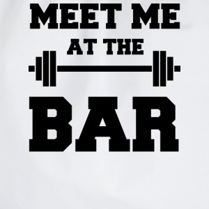 Meet me at the Bar - Funny White Gym Tank Top - Turnbeutel