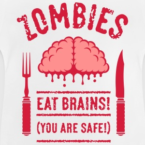 Zombies Eat Brains! You Are Safe! (2C) T-Shirts - Baby T-Shirt