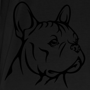 French Bully Head - Männer Premium T-Shirt