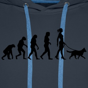 Evolution - Medium Dog T-Shirts - Men's Premium Hoodie