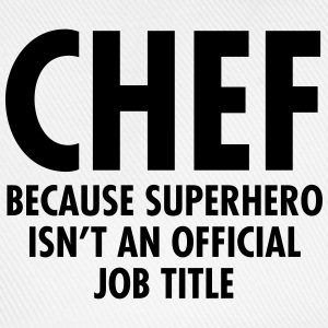 Chef - Superhero  Aprons - Baseball Cap