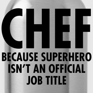 Chef - Superhero  Aprons - Water Bottle