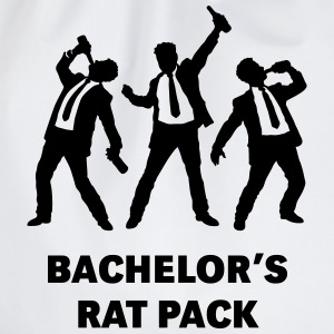 Bachelor's Rat Pack (Stag Party Groom Team / Illu) T-Shirts - Drawstring Bag