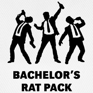 Bachelor's Rat Pack (Stag Party Groom Team / Illu) T-Shirts - Baseball Cap