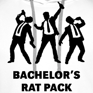 Bachelor's Rat Pack (Stag Party Groom Team / Illu) T-Shirts - Men's Premium Hoodie