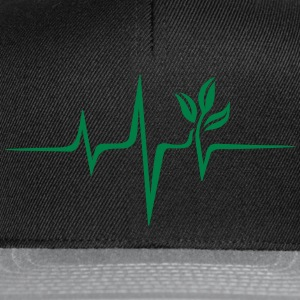 Pulse green, vegan heartbeat frequency, save earth - Snapback Cap