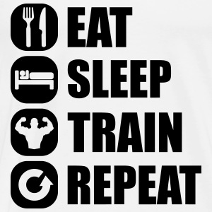 eat_sleep_train_repeat_8_1f Manches longues - T-shirt Premium Homme