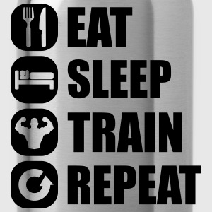 eat_sleep_train_repeat_8_1f T-shirts - Vattenflaska