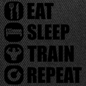 eat_sleep_train_repeat_8_1f Tee shirts - Casquette snapback