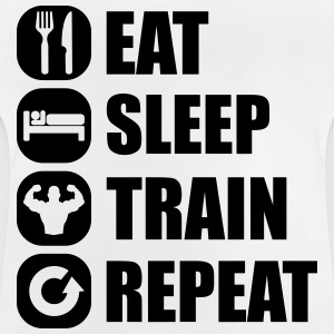 eat_sleep_train_repeat_8_1f Shirts - Baby T-Shirt