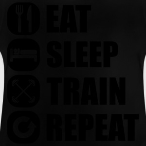 eat_sleep_train_repeat_7_1f Long Sleeve Shirts - Baby T-Shirt