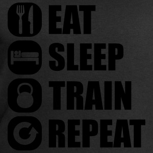 eat_sleep_train_repeat Camisetas - Sudadera hombre de Stanley & Stella