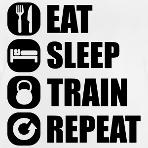 eat_sleep_train_repeat_6_1f Shirts - Baby T-Shirt