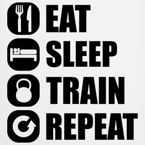 eat_sleep_train_repeat Manga larga - Delantal de cocina