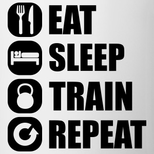eat_sleep_train_repeat Manches longues - Tasse