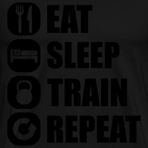 eat_sleep_train_repeat_6_1f Sudaderas - Camiseta premium hombre