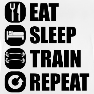 eat_sleep_train_repeat_5_1f Magliette - Maglietta per neonato