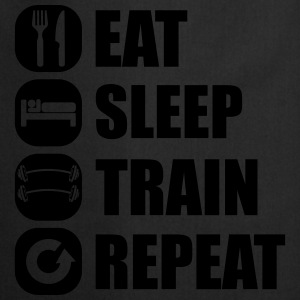 eat_sleep_train_repeat_5_1f Camisetas - Delantal de cocina