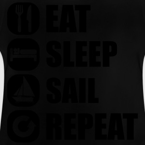 eat_sleep_sail_repeat_12_1f Camisetas - Camiseta bebé
