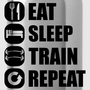 eat_sleep_train_repeat_5_1f Långärmade T-shirts - Vattenflaska