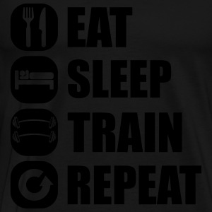 eat_sleep_train_repeat_5_1f Långärmade T-shirts - Premium-T-shirt herr