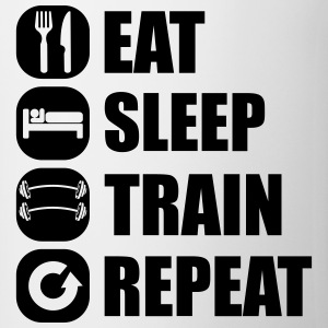 eat_sleep_train_repeat_5_1f Tee shirts - Tasse