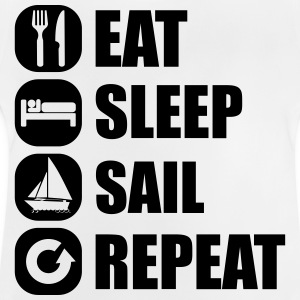 eat_sleep_sail_repeat_12_1f Långärmade T-shirts - Baby-T-shirt