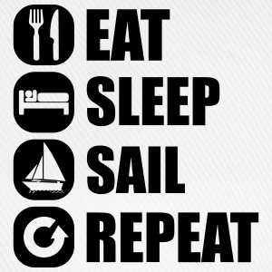 eat_sleep_sail_repeat_12_1f Tee shirts - Casquette classique