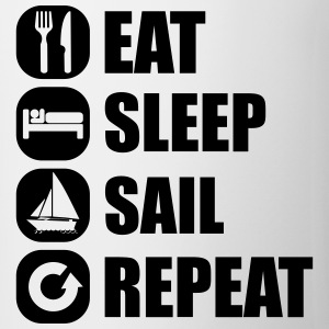 eat_sleep_sail_repeat_12_1f T-shirts - Kop/krus