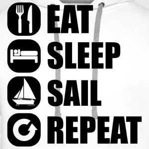 eat_sleep_sail_repeat_12_1f Tee shirts - Sweat-shirt à capuche Premium pour hommes