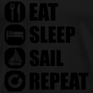 eat_sleep_sail_repeat_12_1f Canotte - Maglietta Premium da uomo