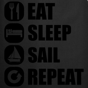 eat_sleep_sail_repeat_12_1f Langærmede shirts - Forklæde