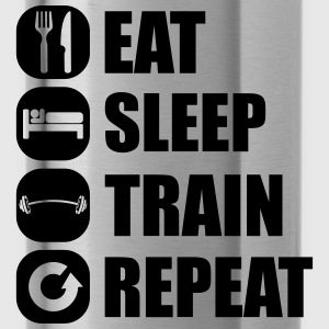 eat_sleep_train_repeat_4_1f Toppar - Vattenflaska