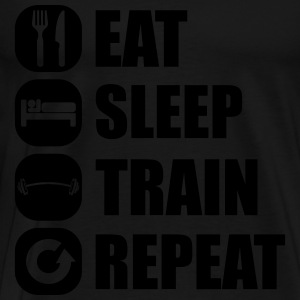 eat_sleep_train_repeat_4_1f Long Sleeve Shirts - Men's Premium T-Shirt