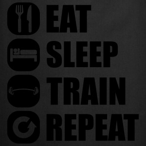 eat_sleep_train_repeat_4_1f Sudaderas - Delantal de cocina
