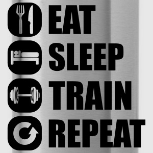 eat_sleep_train_repeat_2_1f Débardeurs - Gourde