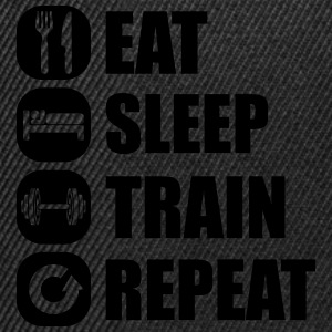 eat_sleep_train_repeat_2_1f Débardeurs - Casquette snapback