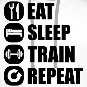 eat_sleep_train_repeat_2_1f Camisetas - Sudadera con capucha premium para hombre