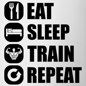eat_sleep_train_repeat_1_1f T-shirts - Mugg