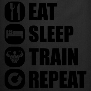 eat_sleep_train_repeat_1_1f Camisetas - Delantal de cocina