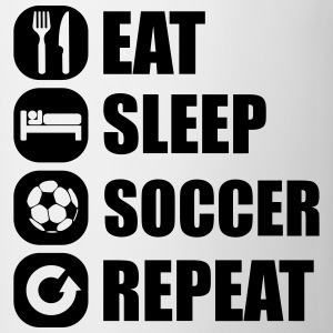 eat_sleep_soccer_repeat T-shirts - Kop/krus