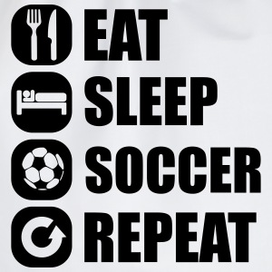 eat_sleep_soccer_repeat T-shirts - Gymnastikpåse