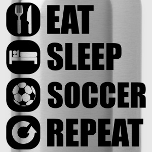 eat_sleep_soccer_repeat Long sleeve shirts - Water Bottle