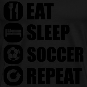 eat_sleep_soccer_repeat Long sleeve shirts - Men's Premium T-Shirt
