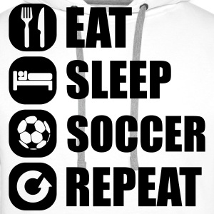 eat_sleep_soccer_repeat T-shirts - Premiumluvtröja herr