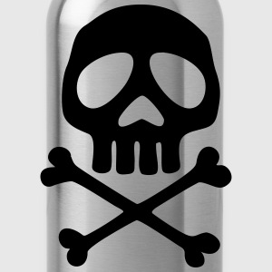 Skull, Totenkopf, Pirat, Anime, Space Captain Lang - Trinkflasche