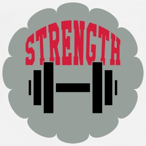 Strength Training - Bodybuilding Fitness  Muscle Mugs & Drinkware - Men's Premium T-Shirt