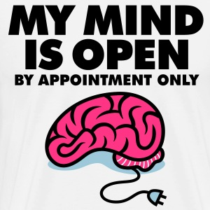 I am an open person. But by appointment only!  Aprons - Men's Premium T-Shirt