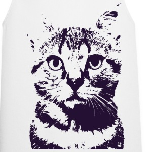 Space Cat Navy Stencil T-Shirts - Cooking Apron