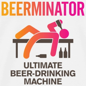 De Beerminator. Ultimate Drinking Machine! Tops - Mannen Premium T-shirt
